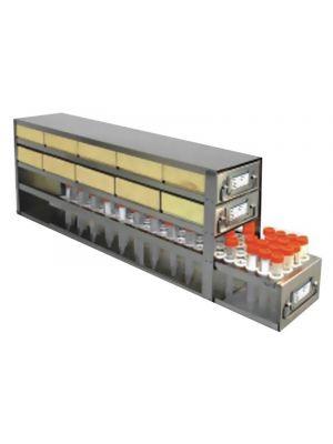 Argos PolarSafe™ Racks With Drawer - 50mL Centrifuge Tubes - Stainless Steel - ARG R5030A