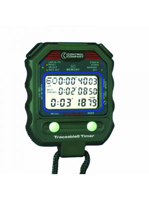 Control Company Multi-Function Stopwatch 60 Memory
