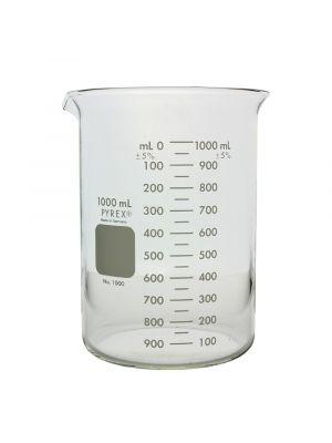 PYREX® Griffin Low Form Beaker, Graduated - 1000ml - CORNING 1000-1L