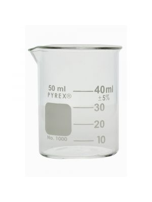 PYREX® Griffin Low Form Beaker, Graduated - 50ml - CORNING 1000-50