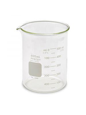 PYREX® Griffin Low Form Beaker, Graduated - 600ml - CORNING 1000-600