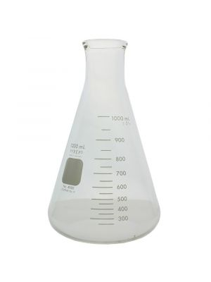 PYREX® Narrow Mouth Erlenmeyer Flasks with Heavy Duty Rim - 1000ml - CORNING 4980-1L