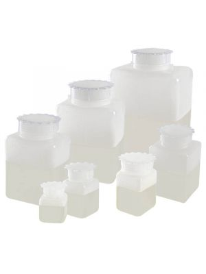 Graduated Rectangular Bottles, High-Density Polyethylene