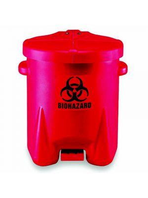 Bio-Hazard Poly Waste Cans