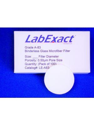 Grade A-83  0.5um Nano-Scale Binderless glass fiber filter