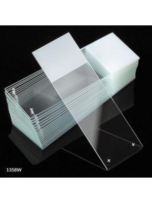 Globe Scientific Color Coded Diamond® White Glass Microscope Slides with 90° Corners