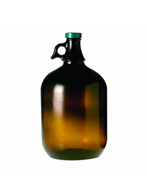 Amber Glass Jug Style Bottles with Caps
