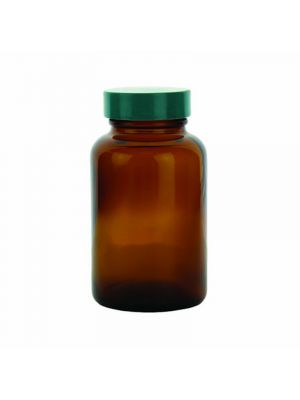 Amber Glass Wide-Mouth Packer Bottles with PTFE Lined Caps