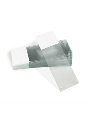 Microscope slides, positive charged, 90° corners, frosted on one end, 25 x 75mm
