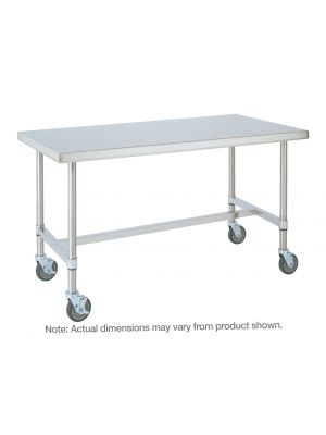 Metro HD Super Stainless Steel Mobile Worktable with Bottom H-Frame, 30