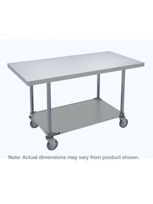 Metro HD Super Stainless Steel Mobile Worktable with Galvanized Bottom Shelf, 30