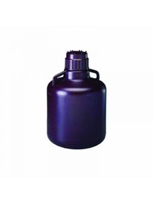 Amber Carboy with Handles, High-Density Polyethylene