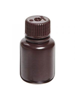 Amber Narrow-Mouth Bottles, High-Density Polyethylene