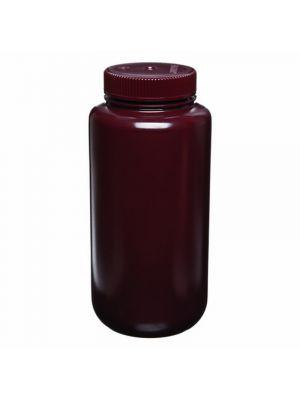 Amber Wide-Mouth Bottle, High-Density Polyethylene