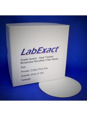 Heat treated Quartz microfiber 2.2um High purity binderless SiO2 Ultra low metals Ultra high temp filter