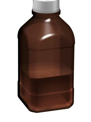 1Ltr Amber Autoclavable Bottle, 45mm thread