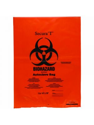 Orange Autoclavable Biohazard Bags